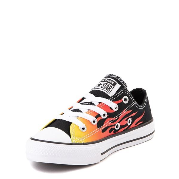 alternate view Converse Chuck Taylor All Star Lo Flames Sneaker - Little Kid - BlackALT2