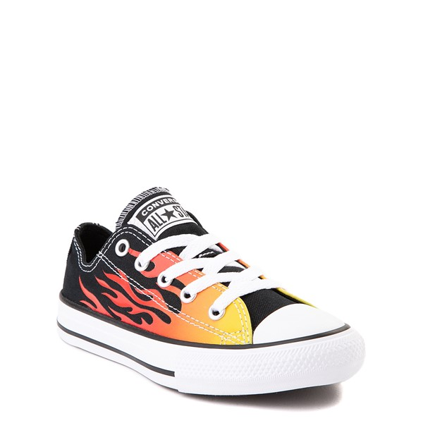 alternate view Converse Chuck Taylor All Star Lo Flames Sneaker - Little Kid - BlackALT5