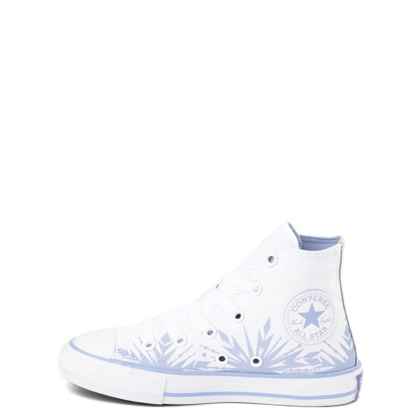 alternate view Converse x Frozen 2 Chuck Taylor All Star Hi Elsa Sneaker - Little Kid / Big Kid - White / Ice BlueALT1