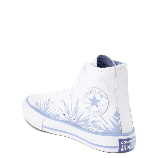 alternate view Converse x Frozen 2 Chuck Taylor All Star Hi Elsa Sneaker - Little Kid / Big Kid - White / Ice BlueALT2