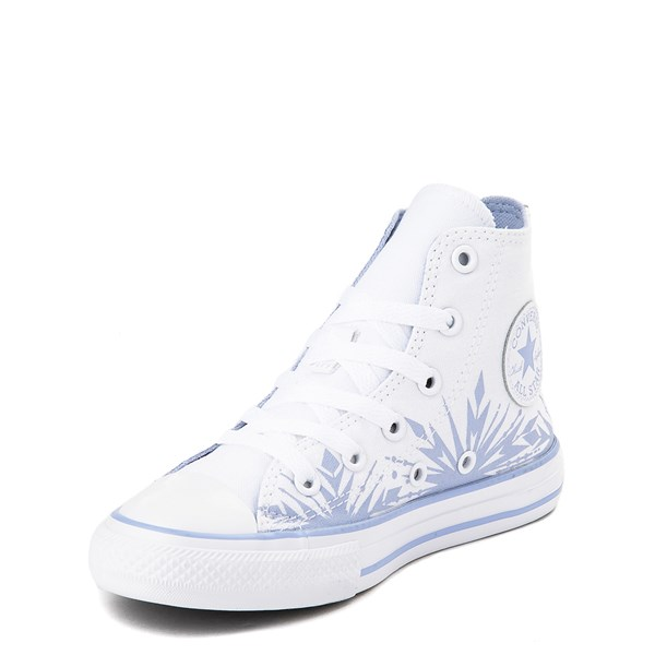 alternate view Converse x Frozen 2 Chuck Taylor All Star Hi Elsa Sneaker - Little Kid / Big Kid - White / Ice BlueALT3