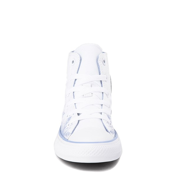 alternate view Converse x Frozen 2 Chuck Taylor All Star Hi Elsa Sneaker - Little Kid / Big Kid - White / Ice BlueALT4