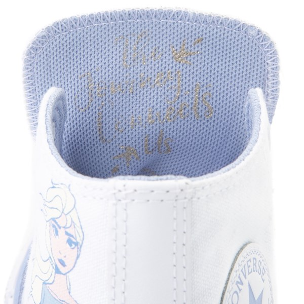 alternate view Converse x Frozen 2 Chuck Taylor All Star Hi Elsa Sneaker - Little Kid / Big Kid - White / Ice BlueALT6