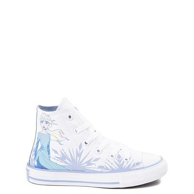 Main view of Converse x Frozen 2 Chuck Taylor All Star Hi Elsa Sneaker - Little Kid / Big Kid - White / Ice Blue