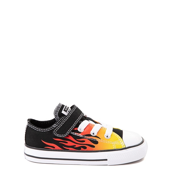 Converse Chuck Taylor All Star 1V Lo Flames Sneaker - Baby / Toddler - Black