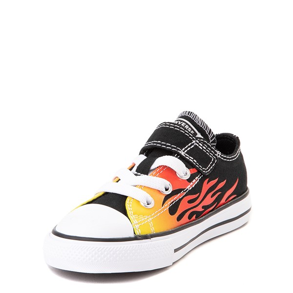 alternate view Converse Chuck Taylor All Star 1V Lo Flames Sneaker - Baby / Toddler - BlackALT2