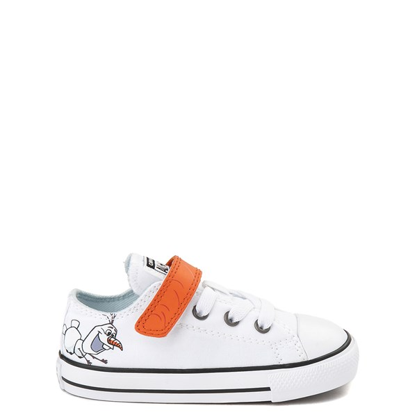 Default view of Converse x Frozen 2 Chuck Taylor All Star 1V Lo Olaf Sneaker - Toddler - White / Orange