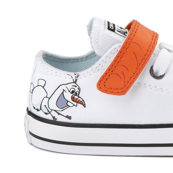 Alternate view of Converse x Frozen 2 Chuck Taylor All Star 1V Lo Olaf Sneaker - Toddler - White / Orange