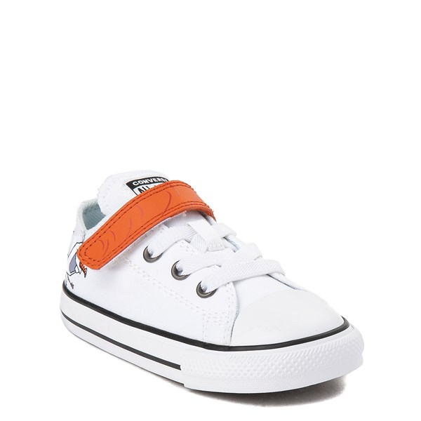 alternate view Converse x Frozen 2 Chuck Taylor All Star 1V Lo Olaf Sneaker - Toddler - White / OrangeALT1C