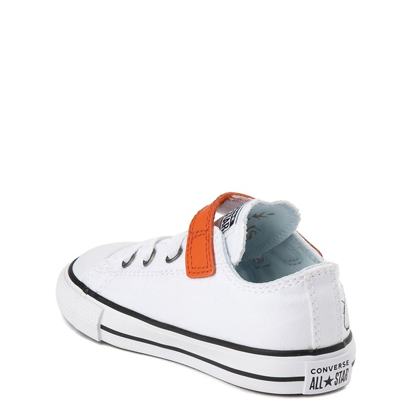 alternate view Converse x Frozen 2 Chuck Taylor All Star 1V Lo Olaf Sneaker - Toddler - White / OrangeALT2