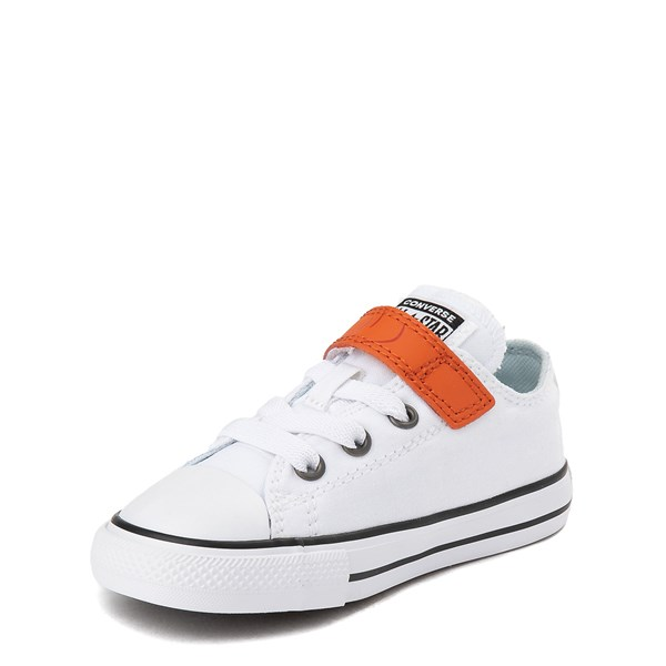 alternate view Converse x Frozen 2 Chuck Taylor All Star 1V Lo Olaf Sneaker - Toddler - White / OrangeALT3