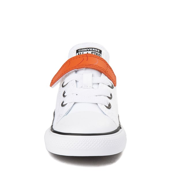 alternate view Converse x Frozen 2 Chuck Taylor All Star 1V Lo Olaf Sneaker - Toddler - White / OrangeALT4