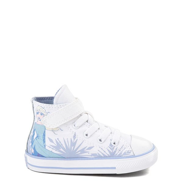 Main view of Converse x Frozen 2 Chuck Taylor All Star 1V Hi Elsa Sneaker - Baby / Toddler - White / Ice Blue