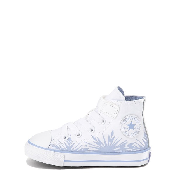 alternate view Converse x Frozen 2 Chuck Taylor All Star 1V Hi Elsa Sneaker - Baby / Toddler - White / Ice BlueALT1