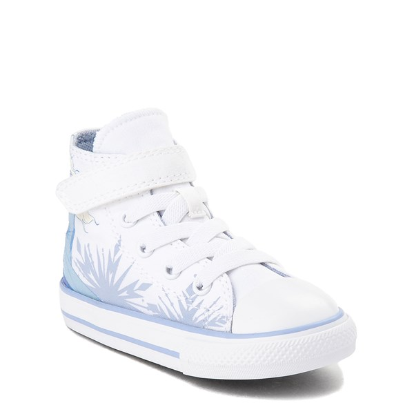 alternate view Converse x Frozen 2 Chuck Taylor All Star 1V Hi Elsa Sneaker - Baby / Toddler - White / Ice BlueALT1B