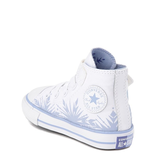 alternate view Converse x Frozen 2 Chuck Taylor All Star 1V Hi Elsa Sneaker - Baby / Toddler - White / Ice BlueALT2