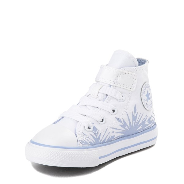 alternate view Converse x Frozen 2 Chuck Taylor All Star 1V Hi Elsa Sneaker - Baby / Toddler - White / Ice BlueALT3