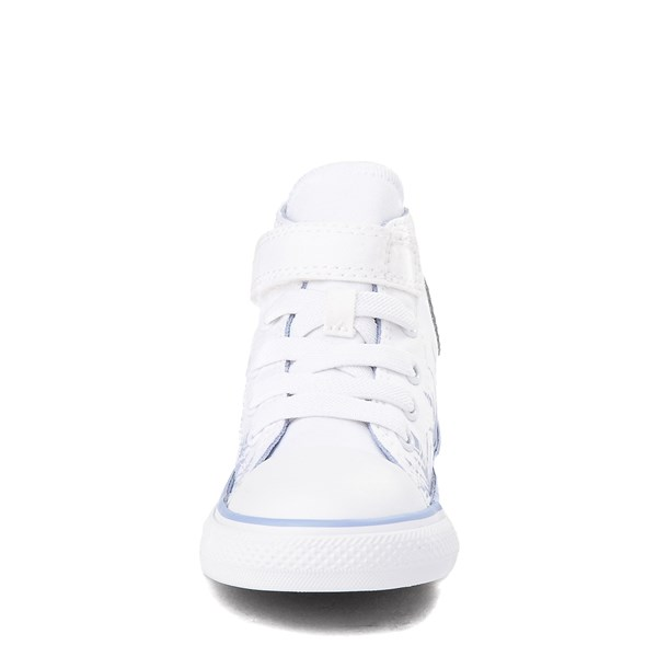 alternate view Converse x Frozen 2 Chuck Taylor All Star 1V Hi Elsa Sneaker - Baby / Toddler - White / Ice BlueALT4