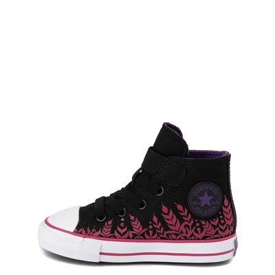 Alternate view of Converse x Frozen 2 Chuck Taylor All Star 1V Hi Anna Sneaker - Baby / Toddler - Black