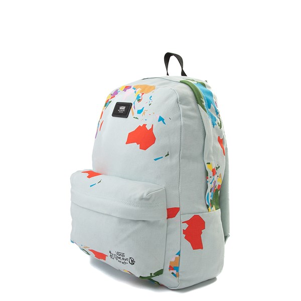 "alternate view Vans Old Skool ""Save Our Planet"" Backpack - White / MultiALT2"