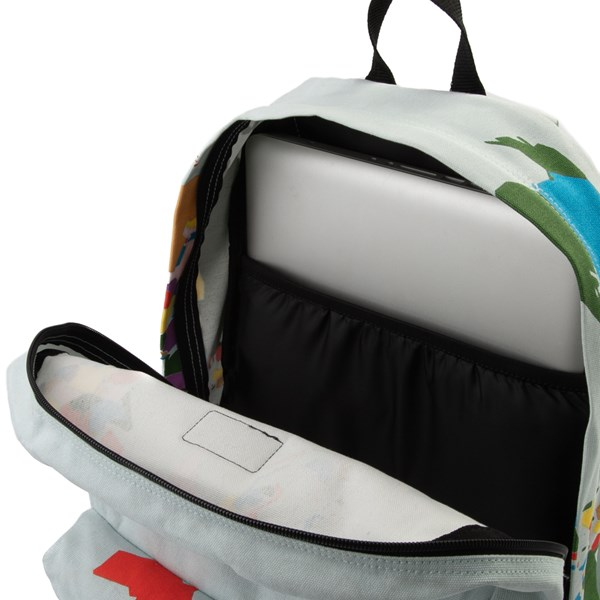 "alternate view Vans Old Skool ""Save Our Planet"" Backpack - White / MultiALT3"