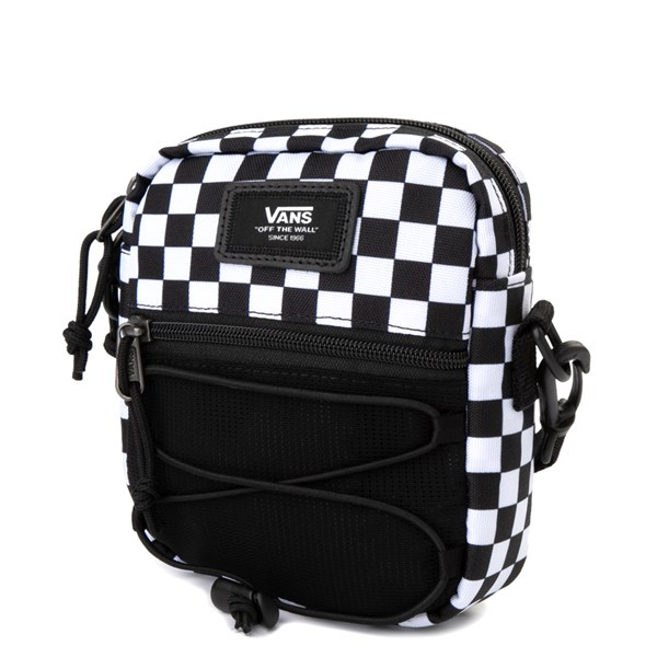 alternate view Vans Bail Checkerboard Shoulder Bag - Black / WhiteALT2