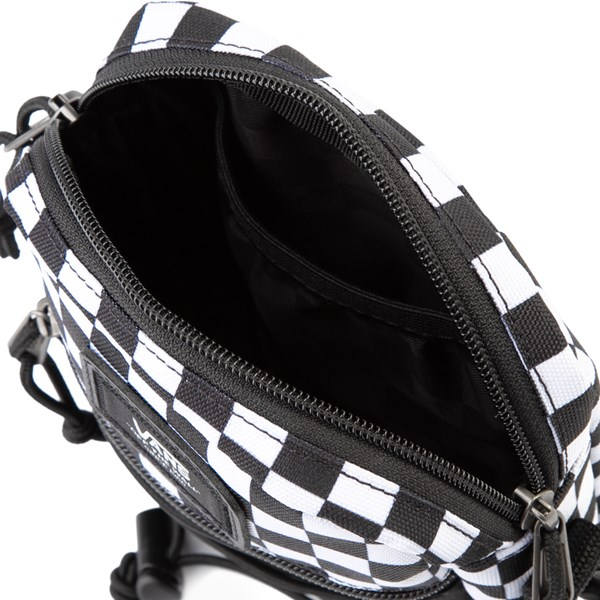 alternate view Vans Bail Checkerboard Shoulder Bag - Black / WhiteALT3