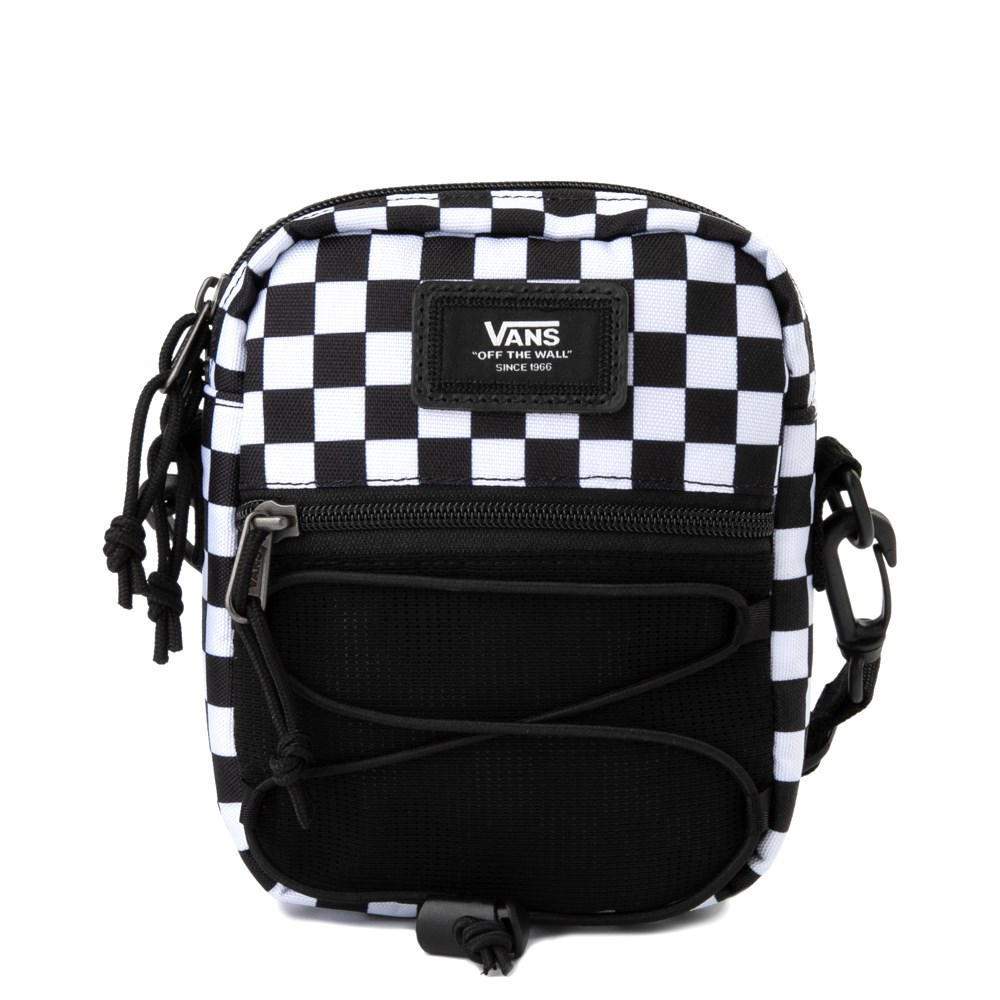 Vans Bail Checkerboard Shoulder Bag - Black / White