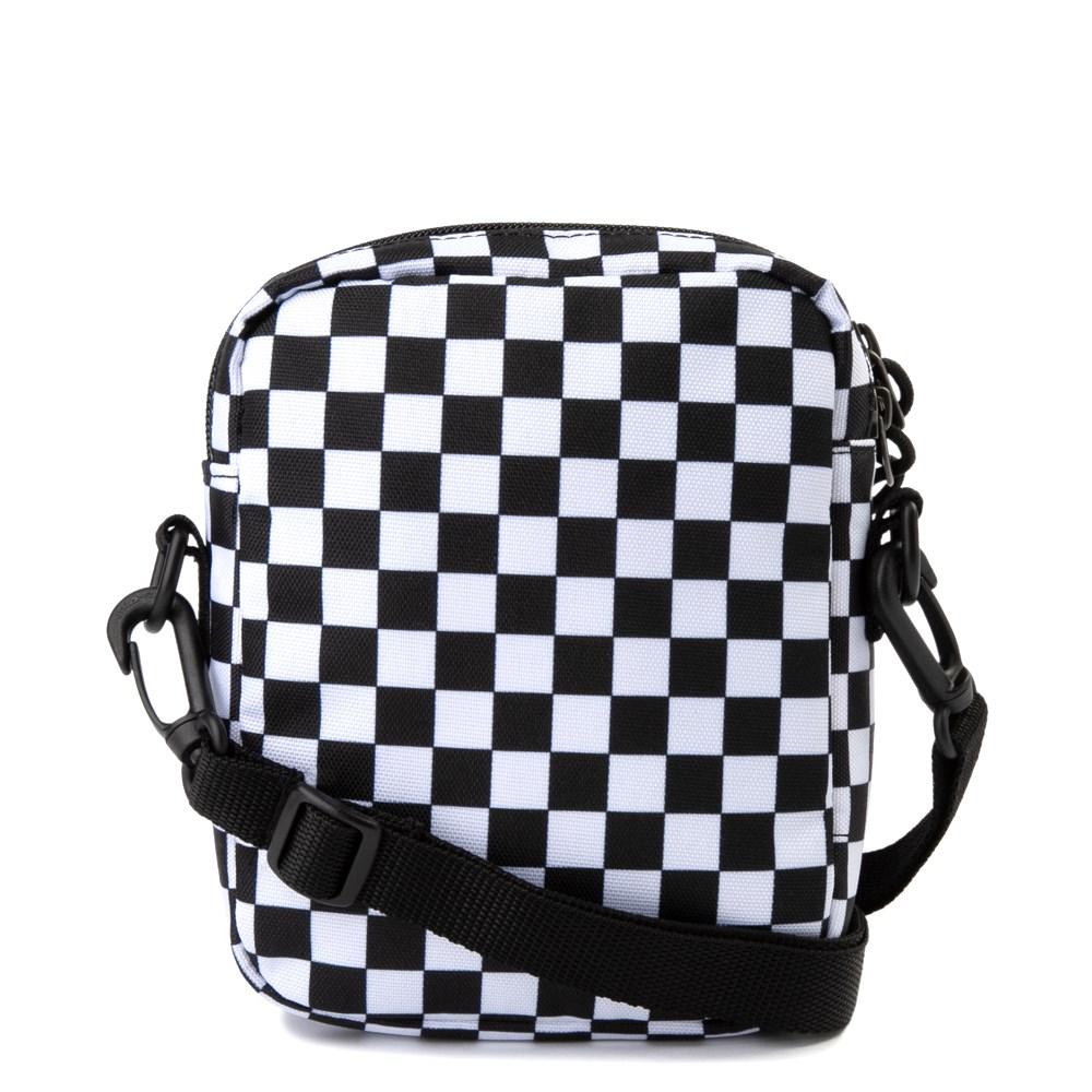 Vans Bail Checkerboard Shoulder Bag Black White