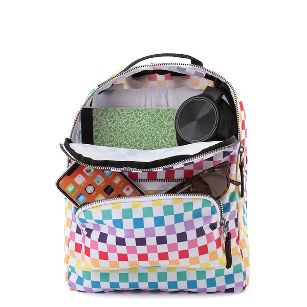 alternate view Vans Off the Wall Mini Checkerboard Backpack - RainbowALT1
