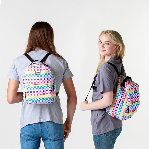 alternate view Vans Off the Wall Mini Checkered Backpack - RainbowALT1BADULT