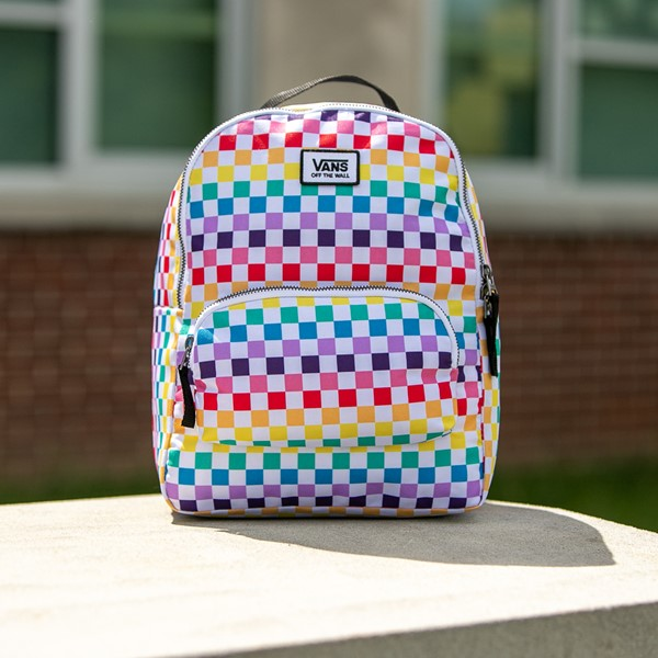 alternate view Vans Off the Wall Mini Checkered Backpack - MulticolorALT1BB