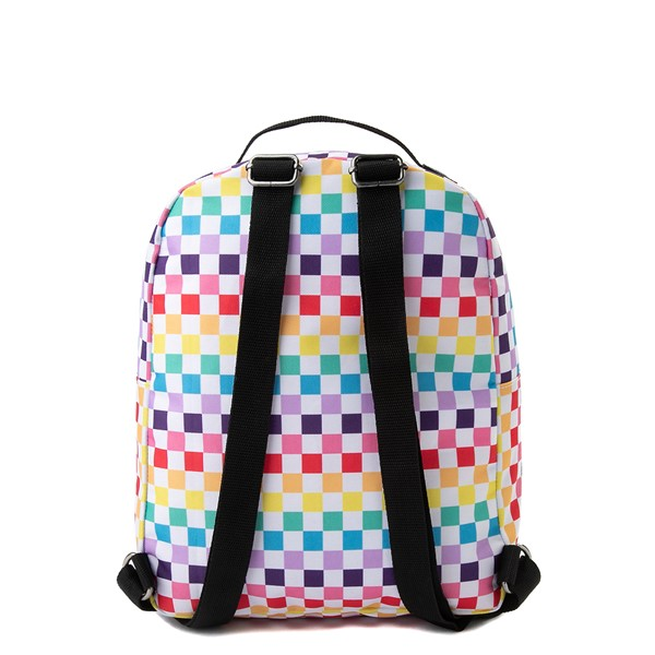 alternate view Vans Off the Wall Mini Checkerboard Backpack - RainbowALT2