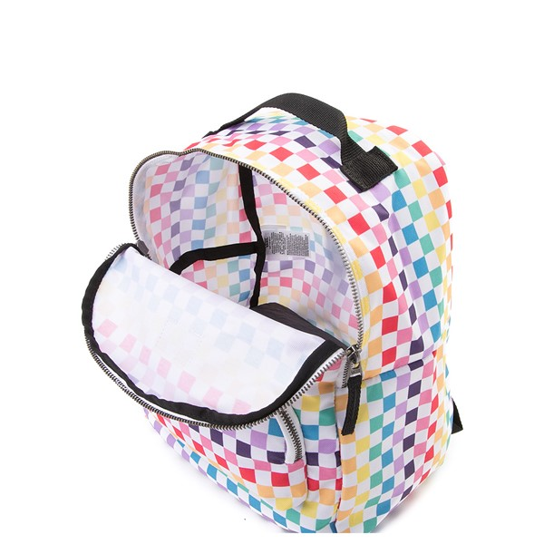 alternate view Vans Off the Wall Mini Checkerboard Backpack - RainbowALT3