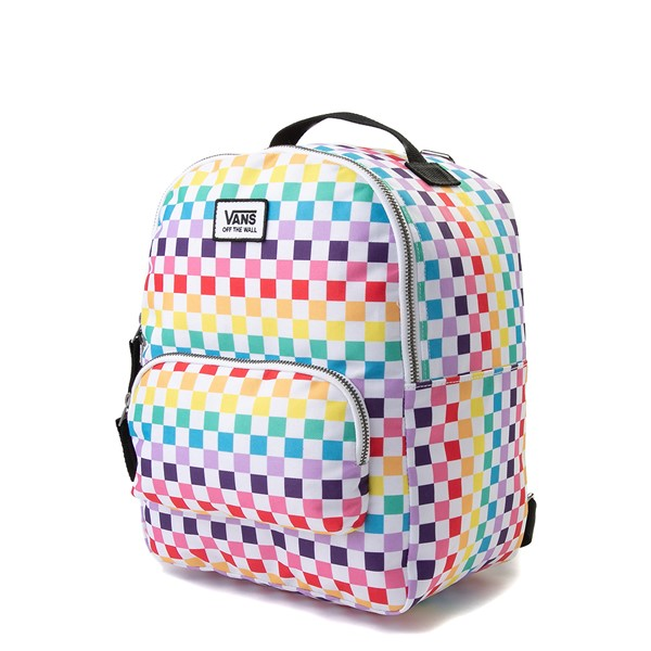 alternate view Vans Off the Wall Mini Checkerboard Backpack - RainbowALT4