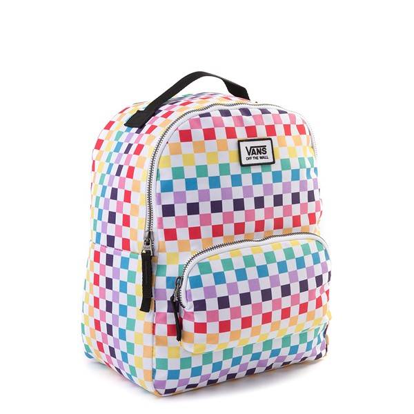 alternate view Vans Off the Wall Mini Checkerboard Backpack - RainbowALT4B