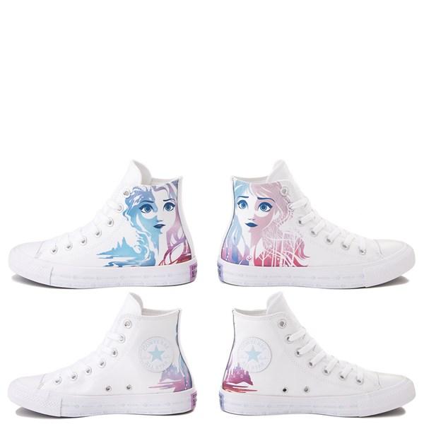 alternate view Converse x Frozen 2 Chuck Taylor All Star Hi Anna & Elsa Sneaker - WhiteALT1B