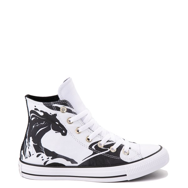 Default view of Converse x Frozen 2 Chuck Taylor All Star Hi Nokk Sneaker - White / Black