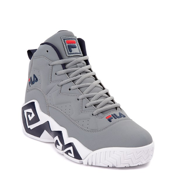 alternate view Mens Fila MB Athletic Shoe - Gray / Navy / RedALT1