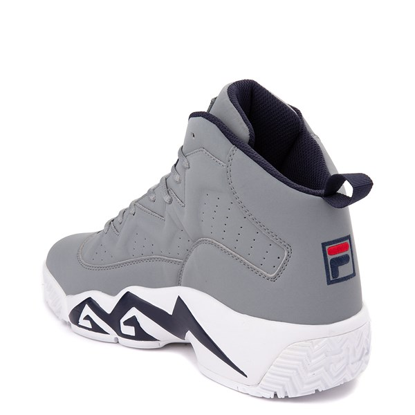 alternate view Mens Fila MB Athletic Shoe - Gray / Navy / RedALT2