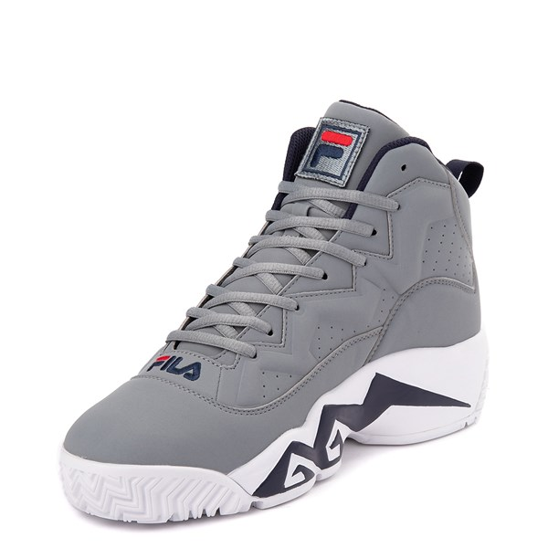 alternate view Mens Fila MB Athletic Shoe - Gray / Navy / RedALT3