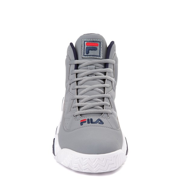 alternate view Mens Fila MB Athletic Shoe - Gray / Navy / RedALT4