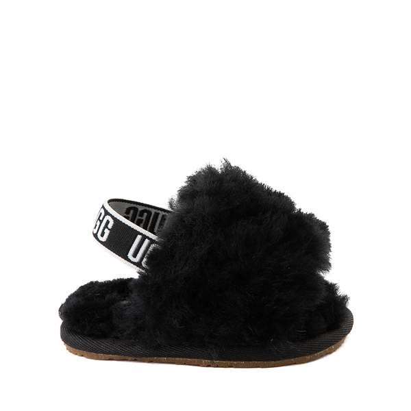 Main view of UGG® Fluff Yeah Slide Sandal - Baby / Toddler - Black