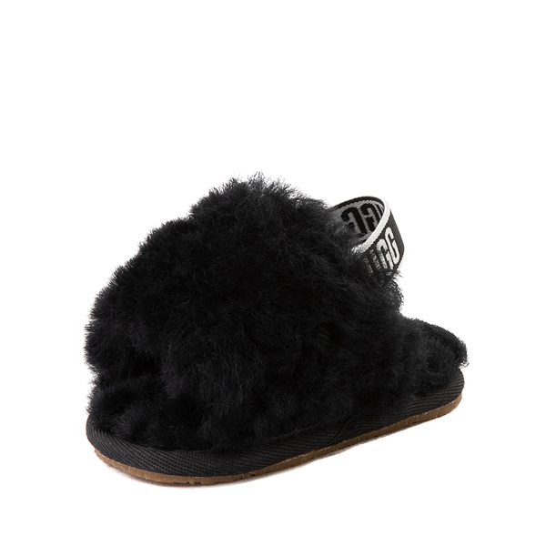 alternate view UGG® Fluff Yeah Slide Sandal - Baby / Toddler - BlackALT2