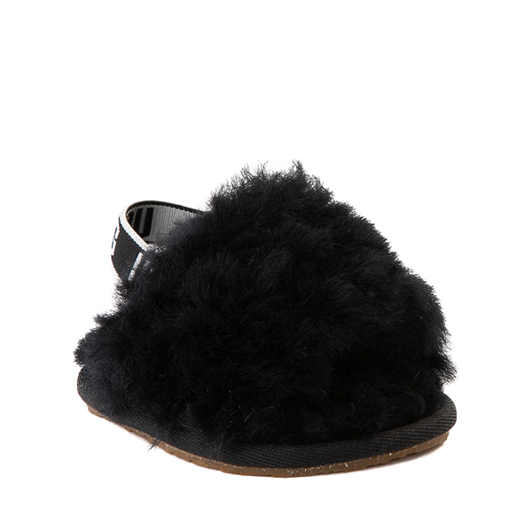 alternate view UGG® Fluff Yeah Slide Sandal - Baby / Toddler - BlackALT5