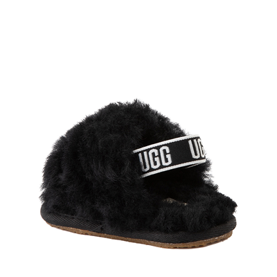 Alternate view of UGG® Fluff Yeah Slide Sandal - Baby / Toddler - Black