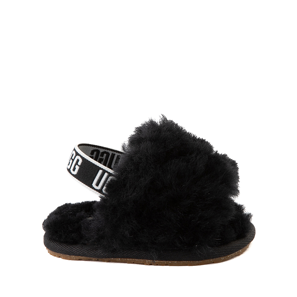 UGG® Fluff Yeah Slide Sandal - Baby / Toddler - Black