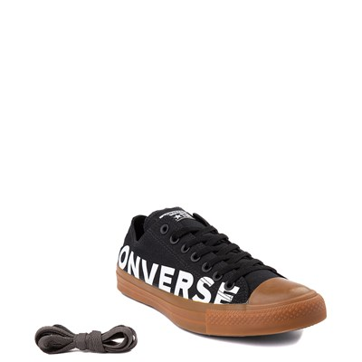 Alternate view of Converse Chuck Taylor All Star Lo Wordmark Sneaker - Black / Gum