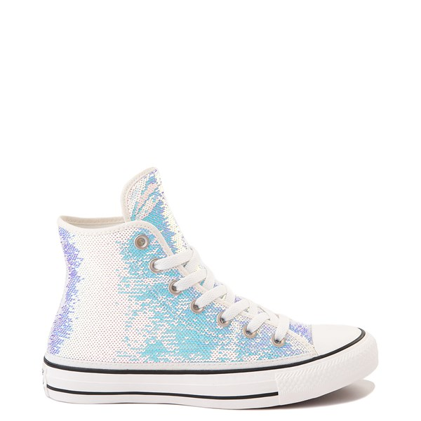 Default view of Converse Chuck Taylor All Star Hi Sequin Sneaker - Silver