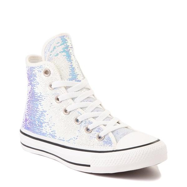 alternate view Converse Chuck Taylor All Star Hi Sequin Sneaker - SilverALT1B